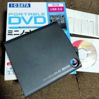 アイオーデータ(IODATA)のI-O DATA バスパワー対応 ポータブル DVDドライブ DVRP-U8EK(PC周辺機器)