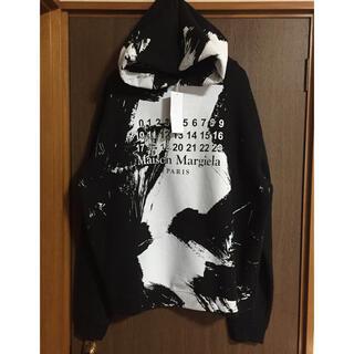 Maison Martin Margiela - 20AW新品46 メゾン マルジェラ ペイント スウェット パーカー ブラック