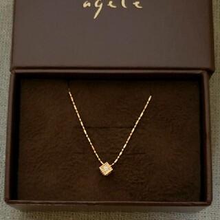 agete - ★アガット★ ネックレス K18  ダイヤ