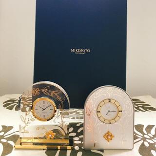 MIKIMOTO - MIKIMOTO真珠付置時計 2個セット (バラ売りOK)