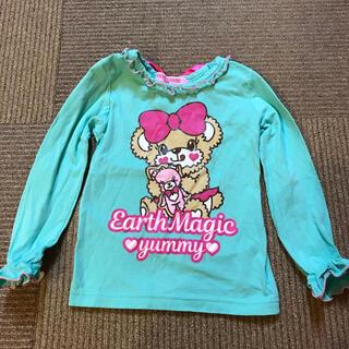 アースマジック(EARTHMAGIC)のアースマジック◆マフィー プリント リボン付き ロンT 100(Tシャツ/カットソー)