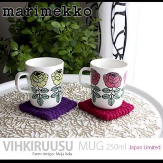 marimekko - ヴィヒキルース マグ カップ コップ 花柄 バラ クリスマス 廃盤 マリメッコ