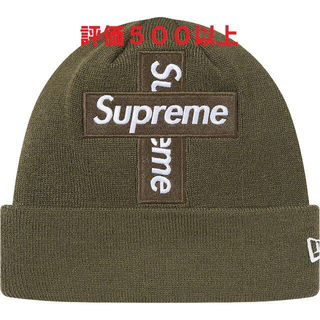 Supreme - New Era Cross Box Logo Beanie オリーブ
