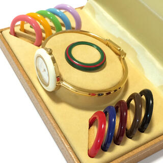 グッチ(Gucci)の8.美品 グッチ GUCCI 時計 チェンジベゼル(腕時計)