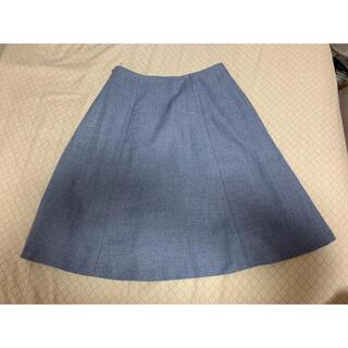 ナチュラルビューティーベーシック(NATURAL BEAUTY BASIC)の【NATURAL BEAUTY BASIC】空色スカート(ひざ丈スカート)