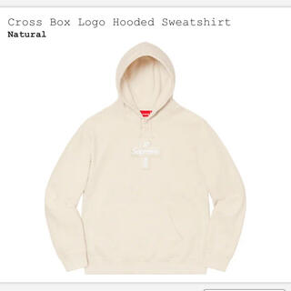 Supreme - M supreme cross box logo hooded パーカー