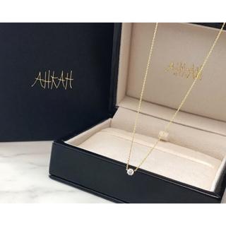 アーカー(AHKAH)のアーカー ソルティアラウンドネックレス ダイヤモンド 定番 人気 (ネックレス)