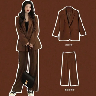 dholic - 韓国 韓国ファッション ジャケット フレアパンツ セットアップ スーツ