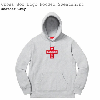 Supreme - Supreme Cross Box Logo Hooded Sweatshirt
