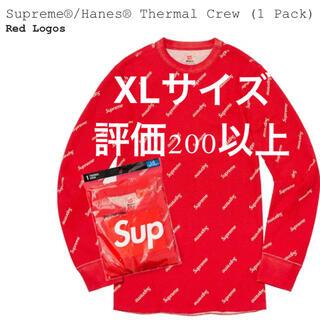 Supreme - Supreme Hanes Thermal Crew 赤 XL サーマル
