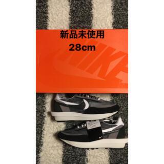 ナイキ(NIKE)のSACAI NIKE LDWAFFLE BLACK 28cm(スニーカー)