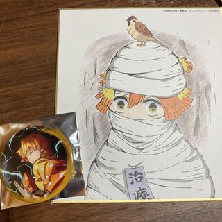 鬼滅の刃 全集中展 色紙 缶バッチ(キャラクターグッズ)