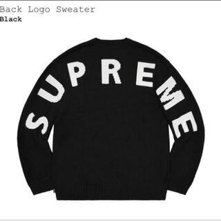 シュプリーム(Supreme)のSupreme Back Logo Sweater Black Large (ニット/セーター)
