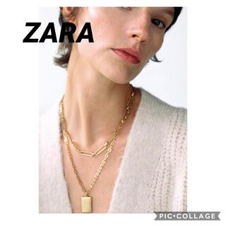 ZARA - ZARA スクエアメダリオン リンクネックレス ZARAネックレス 新品