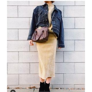 シールームリン(SeaRoomlynn)のSeaRoomlynnベロアコーデュロイスカート ベージュ(ロングスカート)