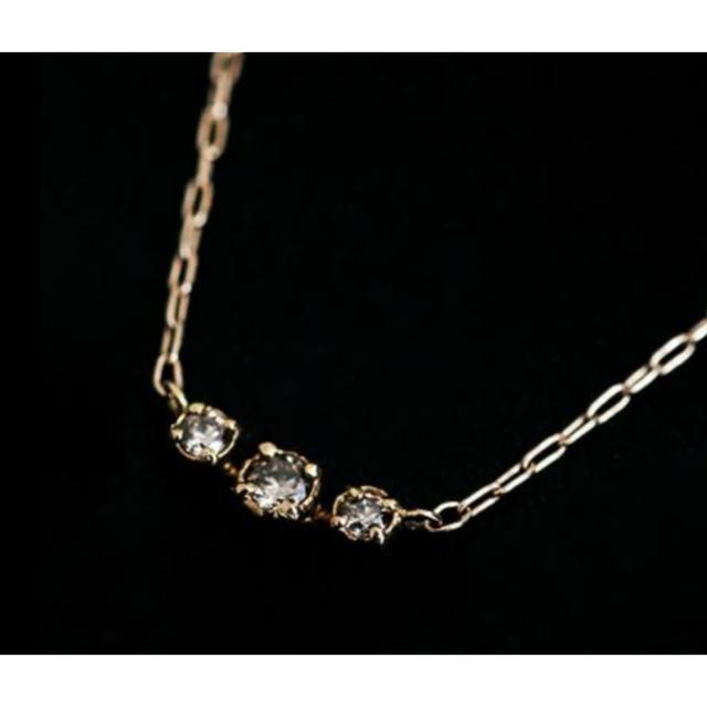 noguchi  3粒ダイヤネックレス ノグチ 値下げしました。 レディースのアクセサリー(ネックレス)の商品写真