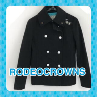 ロデオクラウンズ(RODEO CROWNS)のRODEOCROWN ロデオクラウンズ  S  コート 黒 レディース 冬物(その他)
