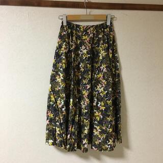 スタディオクリップ(STUDIO CLIP)の●新品 スタディオクリップ 花柄 ロングスカート  Mサイズ (ロングスカート)