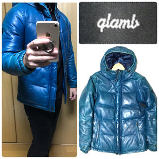グラム(glamb)のglamb レザーダウンジャケット 羊革 グラム シープスキン【希少】(ダウンジャケット)