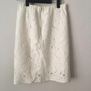 トゥモローランド(TOMORROWLAND)の美品トゥモローランド 上品な膝丈レーススカート(ひざ丈スカート)
