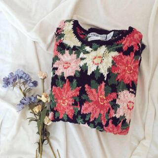サンタモニカ(Santa Monica)の古着 🌷 花柄 セーター(ニット/セーター)