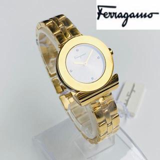 フェラガモ(Ferragamo)の【日本未発売】定価10万 フェラガモ 女性レディース 新品 時計 ゴールド(腕時計)