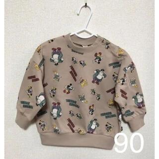 フタフタ(futafuta)のフタフタ futafuta ミッキー 総柄 トレーナー 90(Tシャツ/カットソー)