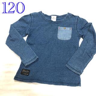 フタフタ(futafuta)の120 バースデーフタフタ デニムのようなロングTシャツ(Tシャツ/カットソー)
