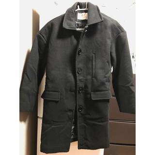 レディース ウェア 黒い コート 長袖ジャケット(ダッフルコート)