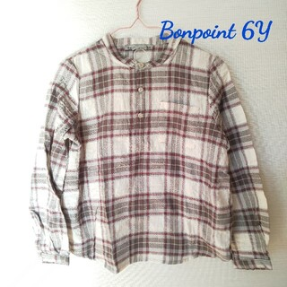 ボンポワン(Bonpoint)の【新品】Bonpoint チェックシャツ 6Y(ブラウス)