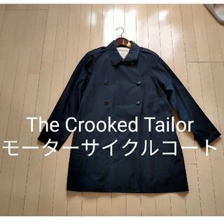 ポールハーデン(Paul Harnden)の【美品】The Crooked Tailor モーターサイクルコート ネイビー(トレンチコート)