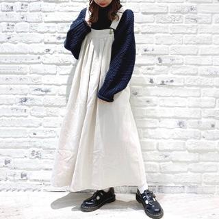 サマンサモスモス(SM2)の【 新品タグ付】SM2  ツイル脇釦ジャンパースカート(ロングスカート)