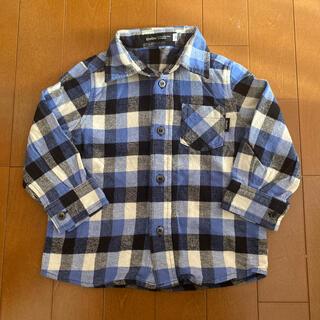ベベ(BeBe)のBeBe   チェックシャツ ネルシャツ   90サイズ    (ブラウス)