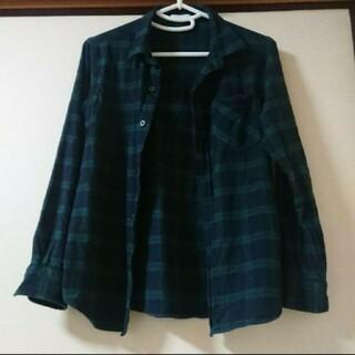 GU ネルシャツ チェックシャツ キッズ 140 Mickey
