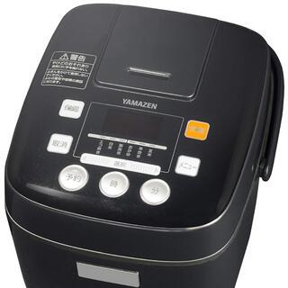 ヤマゼン(山善)の[山善] 炊飯器 3合 マイコン式 6種類炊き分け機能 予約 保温 ブラック (炊飯器)