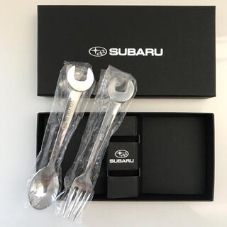 スバル(スバル)の【新品】SUBARU スプーン&フォークセット(カトラリー/箸)