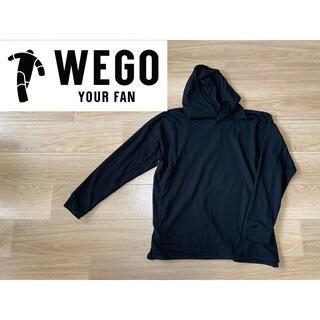 ウィゴー(WEGO)のWEGO ★ ワッフルプルパーカー ブラック メンズ レディース ユニクロ(パーカー)