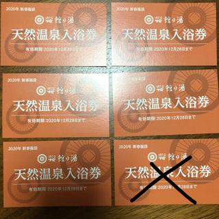値下げ⭐︎ほてる大橋 温泉入浴券 5枚(その他)