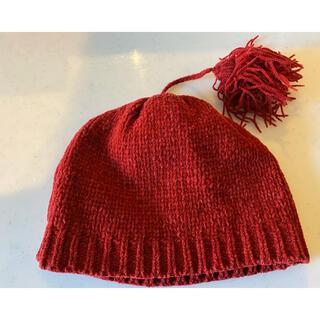 ロートレアモン(LAUTREAMONT)のアトリビス ニット帽 赤 ロートレアモン(帽子)