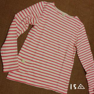 アトリエドゥサボン(l'atelier du savon)のピンクボーダーTシャツ(Tシャツ(長袖/七分))