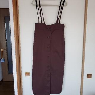 ショコラフィネローブ(chocol raffine robe)のタイトストレートジャンパースカート 新品 タグ付き(ロングワンピース/マキシワンピース)