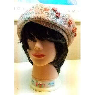 ケンゾー(KENZO)のベレー帽ピンク(ハンチング/ベレー帽)