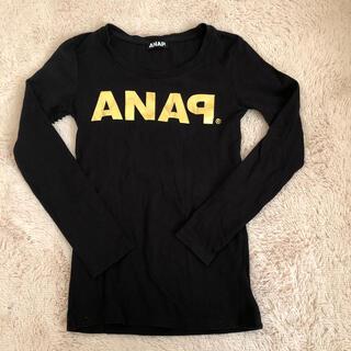 アナップ(ANAP)の☆ANAPアナップ☆黒×ゴールド☆ロンT☆シンプル(Tシャツ(長袖/七分))