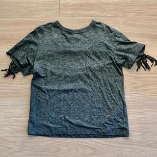 サカイラック(sacai luck)の美品☆サカイラック☆フリンジTシャツ☆ダークグレー杢(Tシャツ(半袖/袖なし))
