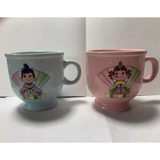 フジヤ(不二家)のペコちゃん ペアマグカップ(グラス/カップ)