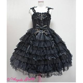 アンジェリックプリティー(Angelic Pretty)のAngelic Pretty dressy time クロ ジャンパースカート(ひざ丈ワンピース)