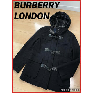 バーバリー(BURBERRY)のバーバリーロンドン BURBERRY ダッフルコート 黒(ダッフルコート)