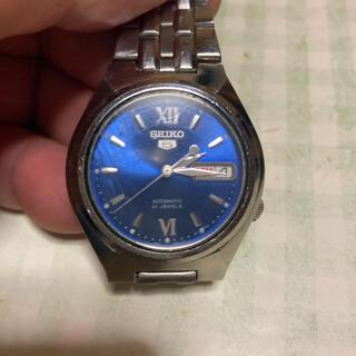 セイコー(SEIKO)のセイコ–5自動巻文字盤ロイヤルブルー(腕時計(アナログ))