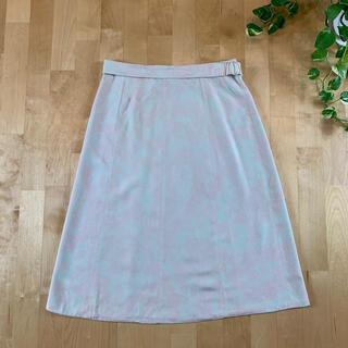 トーガ(TOGA)のTOGA トーガ 総柄スカート ピンク×白 巻きスカート (ひざ丈スカート)