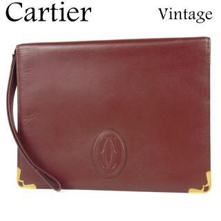 カルティエ(Cartier)のカルティエ 美品 ヴィンテージ マストライン 2C クラッチ セカンド バッグ(クラッチバッグ)
